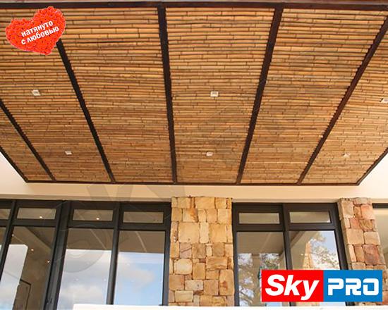 Бамбуковые панели для потолков
