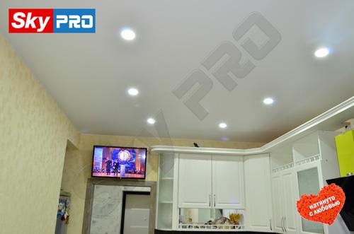 Схема расположения светильников на натяжном потолке
