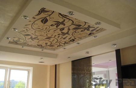 Фотопечать на тканевых потолках